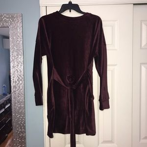 Dresses & Skirts - Burgundy Valore front tie dress